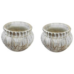 Pair of Large Hand Crafted Marble Jardinieres, circa 1930