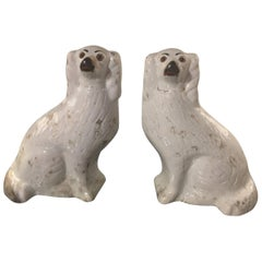 Pair of Large Iconic Antique Staffordshire Dogs