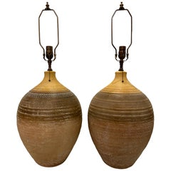 Pair of Large Italian Ceramic Table Lamps