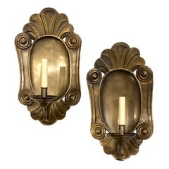 Pair of Large Italian Hammered Sconces