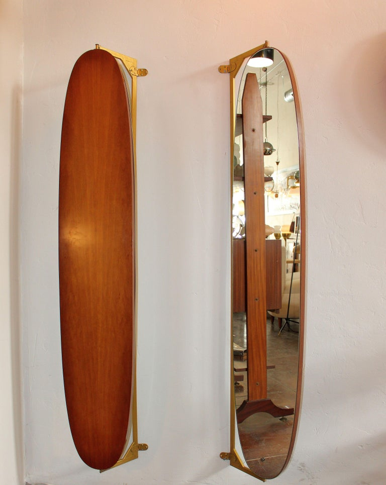 Pair of Large Italian Wall Mirrors In Good Condition For Sale In Los Angeles, CA