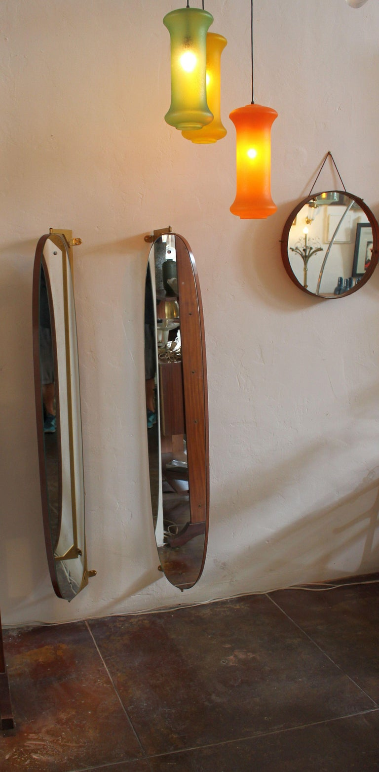 Mid-20th Century Pair of Large Italian Wall Mirrors For Sale