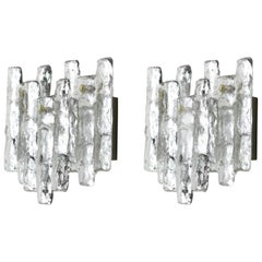Pair of Large Kalmar Sconces Wall Lights, Austria, 1960s