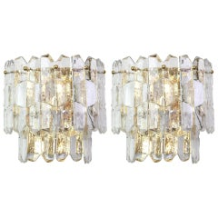 Pair of Large Kalmar Sconces Wall Lights 'Palazzo', Austria, 1960s