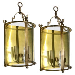 Pair of Large Lantern Sconces