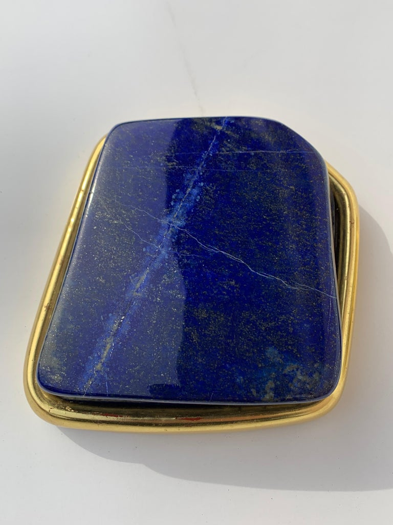 Pair of Large Lapis Lazuli Decorative Paperweights For Sale 1