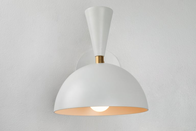 Pair of Large 'Lola II' Sconces in White For Sale 3