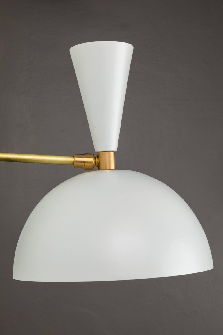 American Pair of Large 'Lola II' Sconces in White For Sale