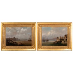 Pair of Large Marine Paintings, Dutch School, End of the 19th Century