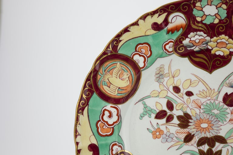 19th Century Pair of Large Mason's Ironstone Chinoiserie Dishes For Sale
