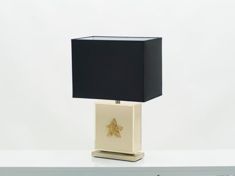 Pair of Large Midcentury J.C. Mahey White Lacquer Brass Table Lamps, 1970s For Sale 7