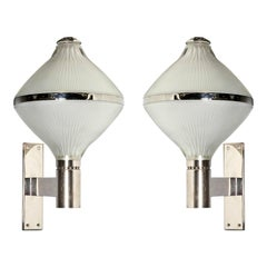 Pair of Large Mid-Century Modern Sconces, by Studio BBPR, for Artemide, 1960s
