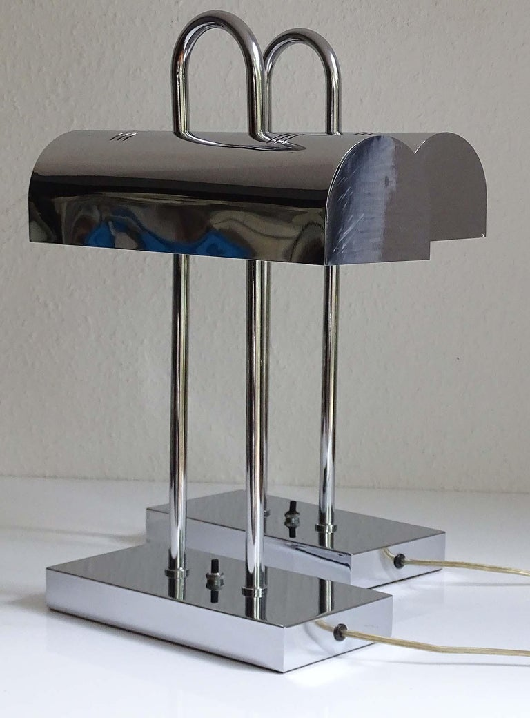 Pair of Large Mid-Century Modernist Yamada Shomei Desk Table Lamps Lights For Sale 4