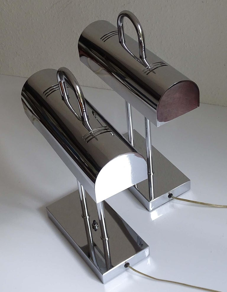 Pair of Large Mid-Century Modernist Yamada Shomei Desk Table Lamps Lights For Sale 6