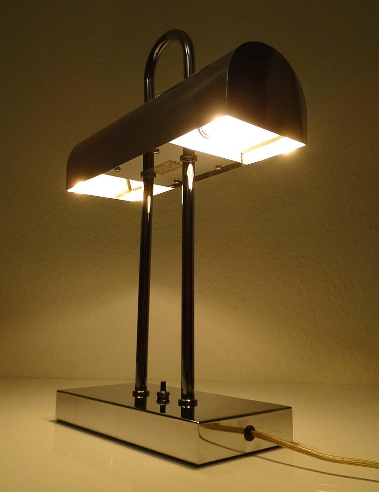 Pair of Large Mid-Century Modernist Yamada Shomei Desk Table Lamps Lights In Good Condition For Sale In Bremen, DE