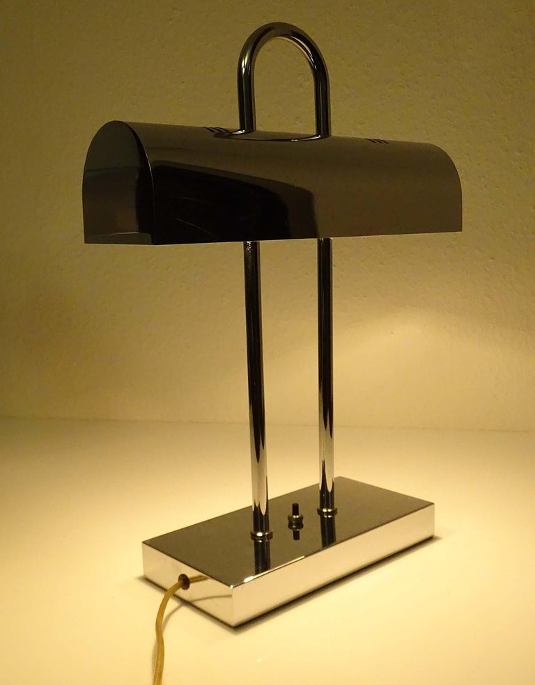 Pair of Large Mid-Century Modernist Yamada Shomei Desk Table Lamps Lights For Sale 1