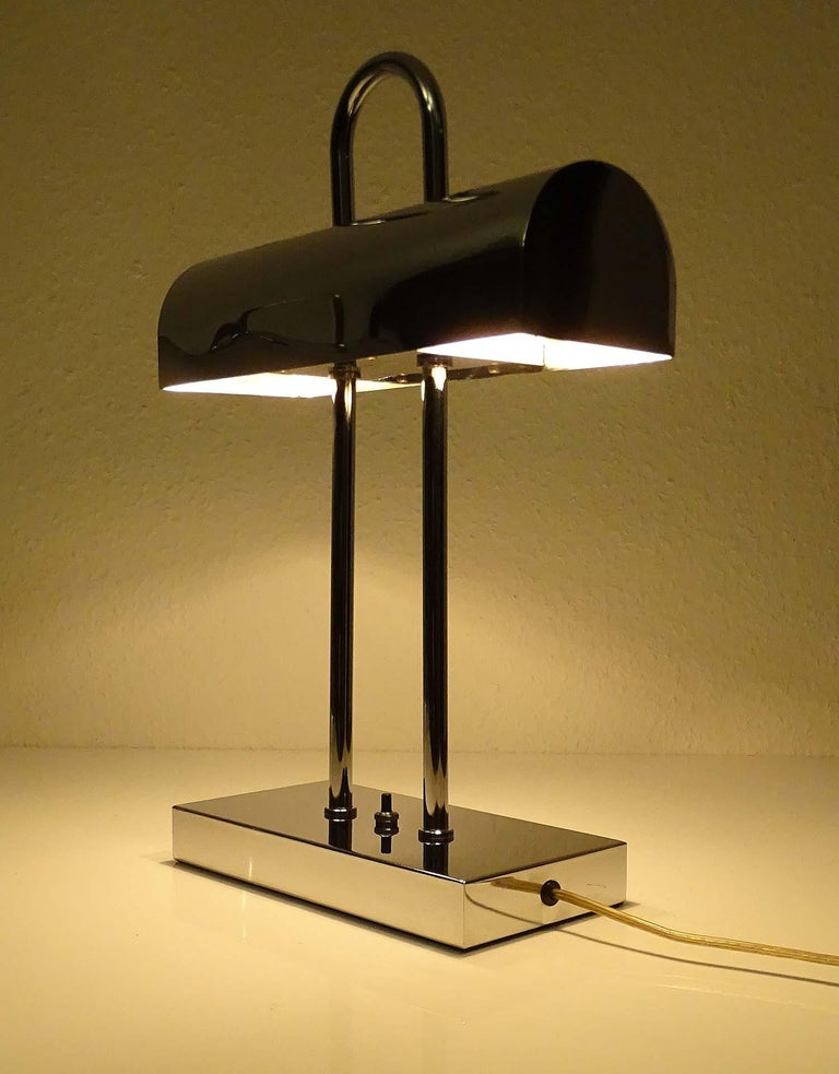 Pair of Large Mid-Century Modernist Yamada Shomei Desk Table Lamps Lights For Sale 3