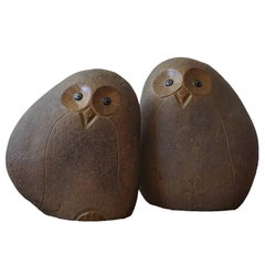 Pair of Large Midcentury Owl Sculptures, 1960s
