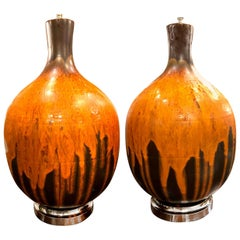 Pair of Large Midcentury Table Lamps