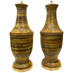 Pair of Large Midcentury Ceramic Table Lamps