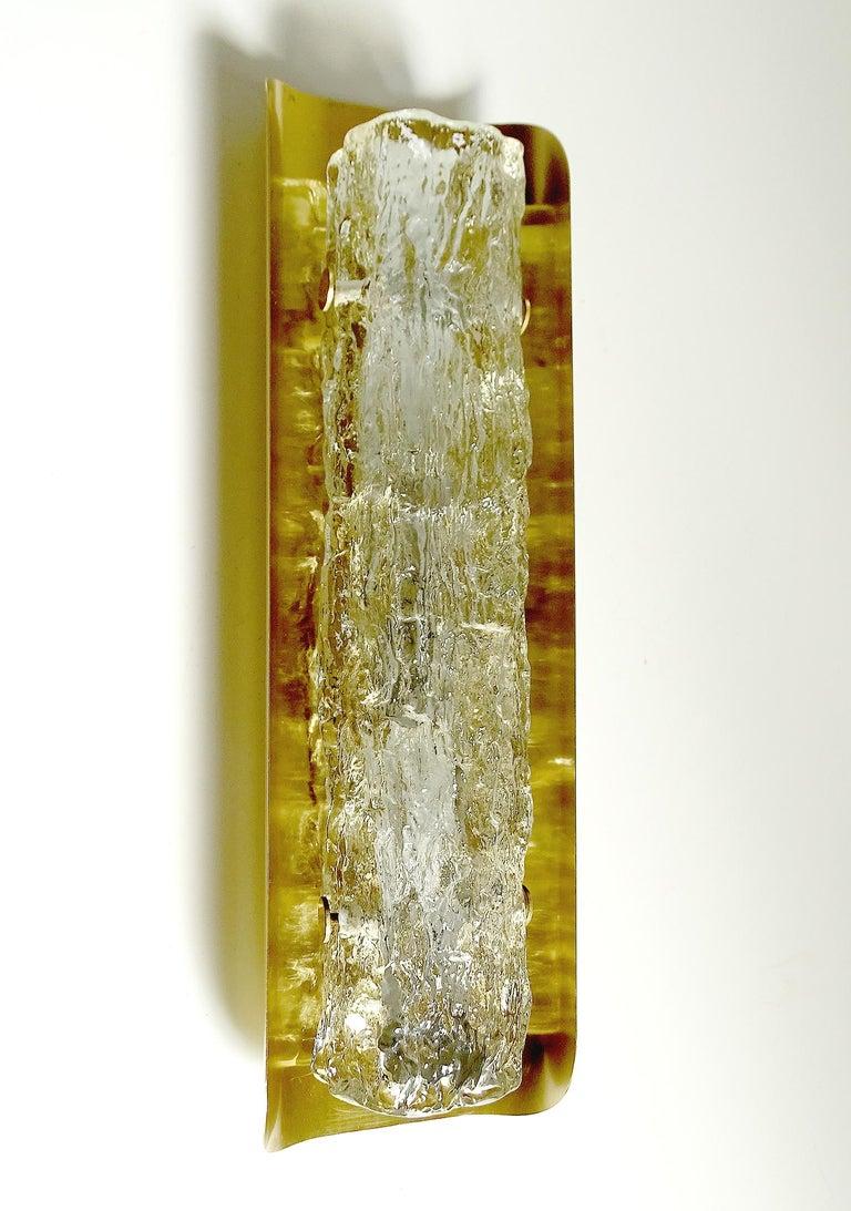 Pair of Large MidCentury Murano Glass Brass Mirror Sconces ,  Gio Ponti Era For Sale 6