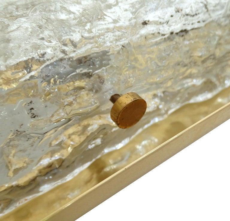 Pair of Large MidCentury Murano Glass Brass Mirror Sconces ,  Gio Ponti Era For Sale 14