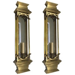Pair of Large Mirrored Sconces
