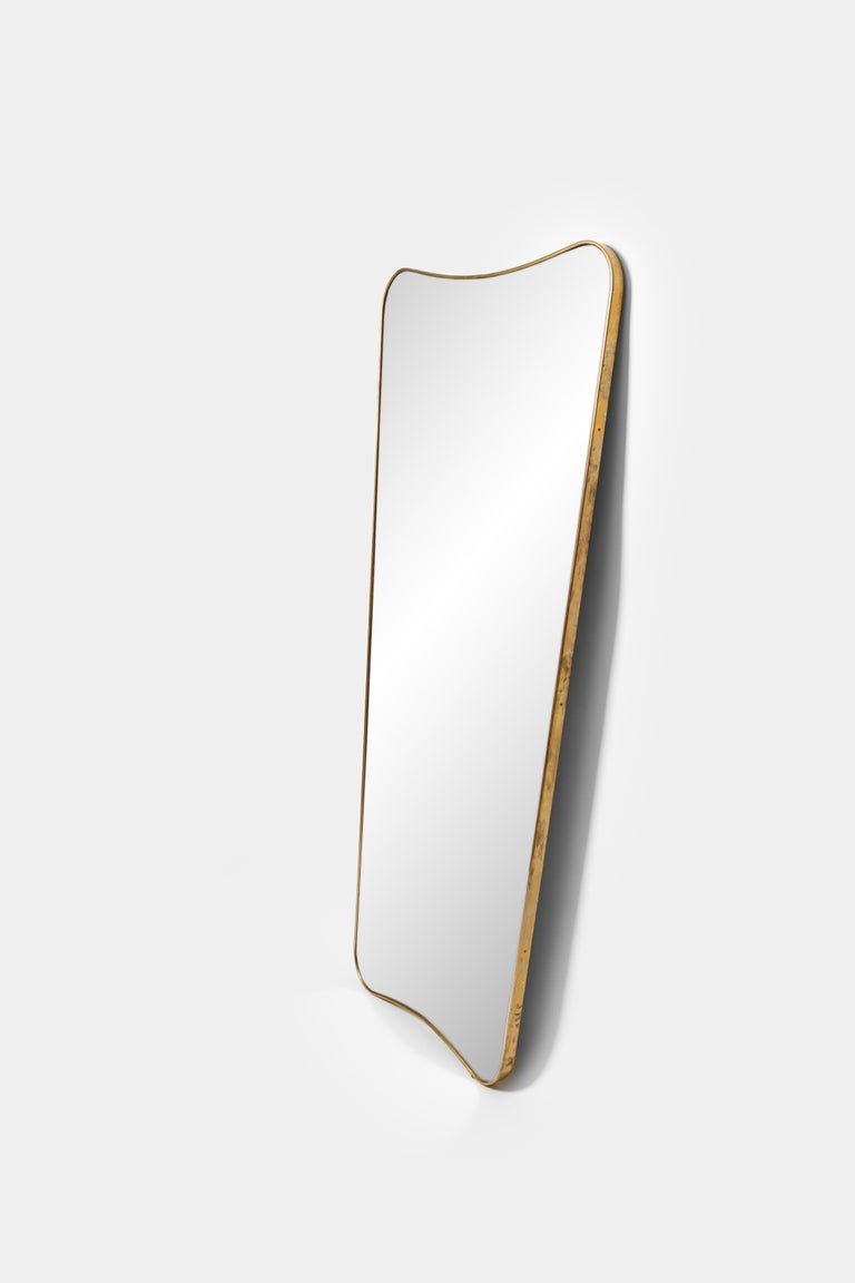 Mid-Century Modern Pair of Large Mirrors in the Style of Gio Ponti For Sale