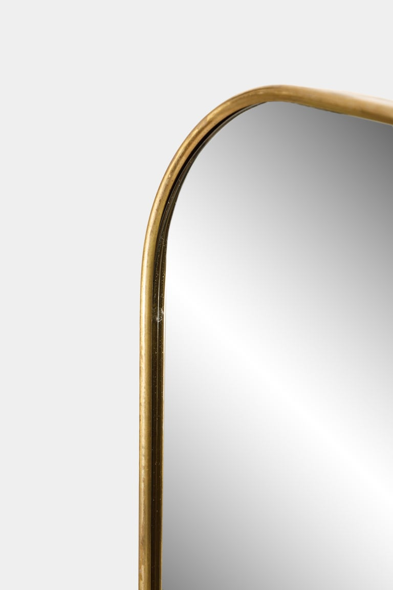 Pair of Large Mirrors in the Style of Gio Ponti In Excellent Condition For Sale In New York, NY