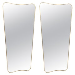 Pair of Large Mirrors in the Style of Gio Ponti