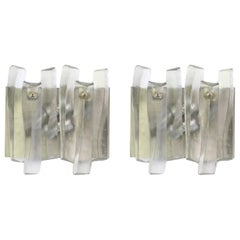Pair of Large Murano Glass Sconces by Kalmar 'Fuente', Austria, 1960s
