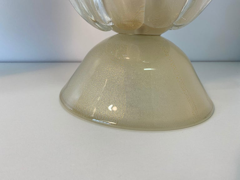 Pair of Large Murano Glass Table Lamps, Italy For Sale 5