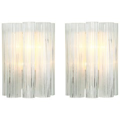 Pair of Large Murano Glass Wall Sconces by Doria, Germany, 1960s