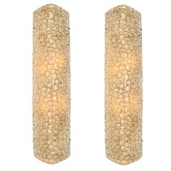 Pair of Large Murano Glass Wall Sconces