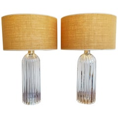 Pair of Large Murano Table Lamps, Italy, 1960s