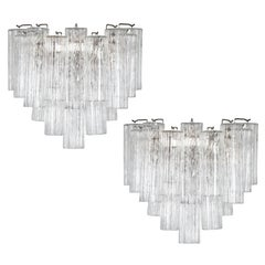 Pair of Large Murano Tronchi Sconces, circa 1970s