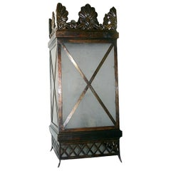 Pair of Large Neoclassic Lanterns, Sold Individually
