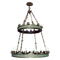 Pair of Large Neoclassic Style Chandelier, Sold Individually