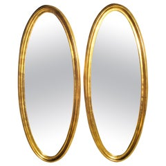 Large Oval Giltwood Mirrors