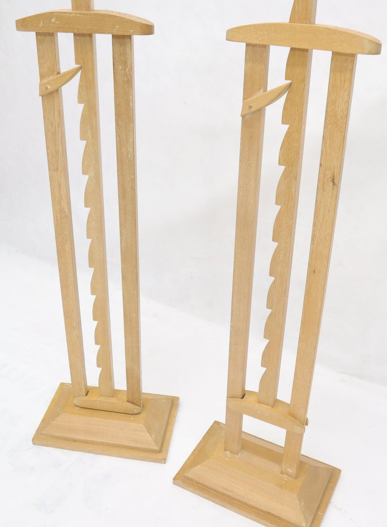 Unknown Pair of Large Oversize Adjustable Candle Holders Sticks  For Sale
