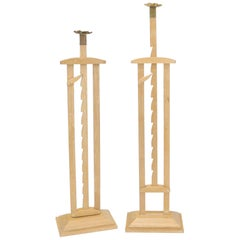 Pair of Large Oversize Adjustable Candle Holders Sticks