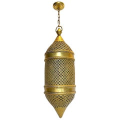 Pair of Large Pierced Moroccan Lanterns, Sold Individually