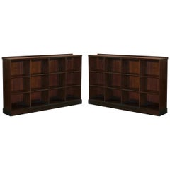 Pair of Large Rare Original Whytock & Reid Edinburgh Mahogany Library Bookcases