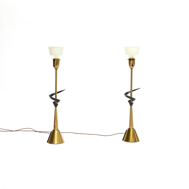 Mid-Century Modern Pair of Large Rembrandt Table Lamps, 1960s For Sale
