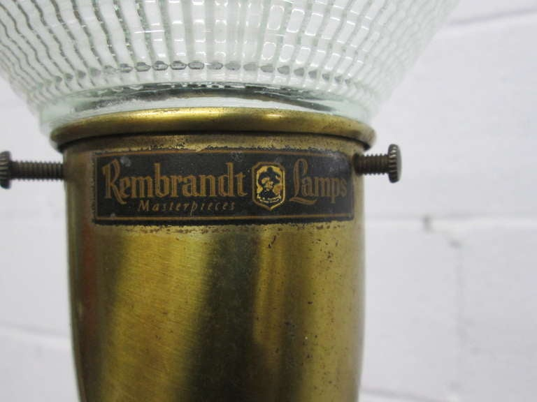 Pair of Large Rembrandt Table Lamps In Good Condition For Sale In New York, NY