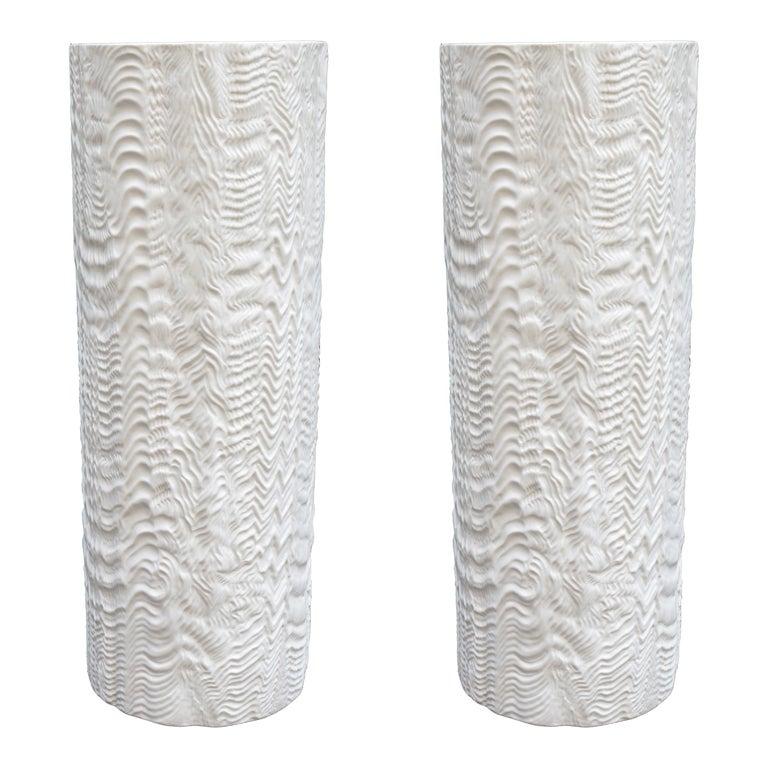Pair of Large Rosenthal Porcelain Vases For Sale