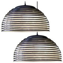Pair of Large Saturno Hanging Lamps by Kazuo Motozawa, 1972