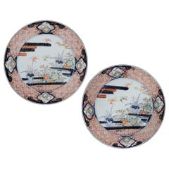 Pair of Large Scale 19th Century Japanese Imari Chargers