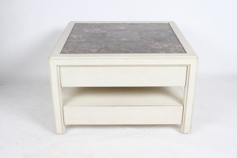 Arthur Elrod was one of the top designers in Palm Springs during the 1950s-1970s with A-list clients, before tragically being killed in an auto accident in 1974, he designed these large scale custom end tables or nightstands in the 1965 for a