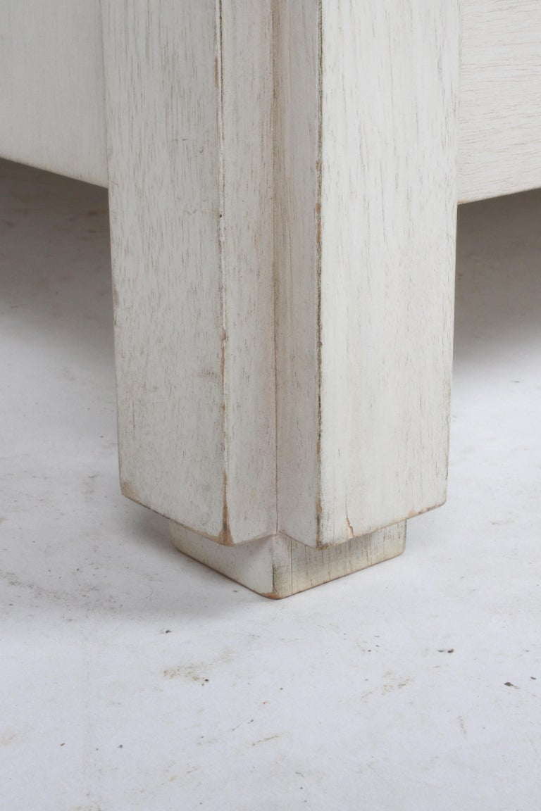 Pair of Large Scale Custom End Tables with Marble Tops by Designer Arthur Elrod For Sale 3